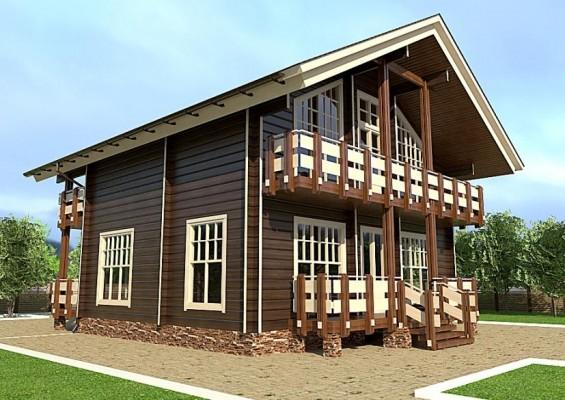 Проект дома из клееного бруса 184 м2