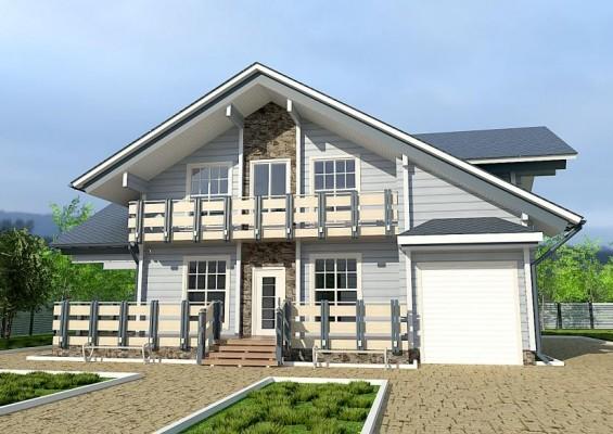 Проект дома из клееного бруса 192 м2