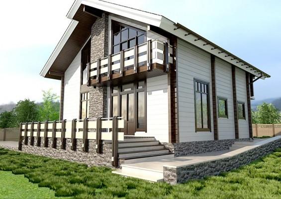 Проект дома из клееного бруса 177 м2