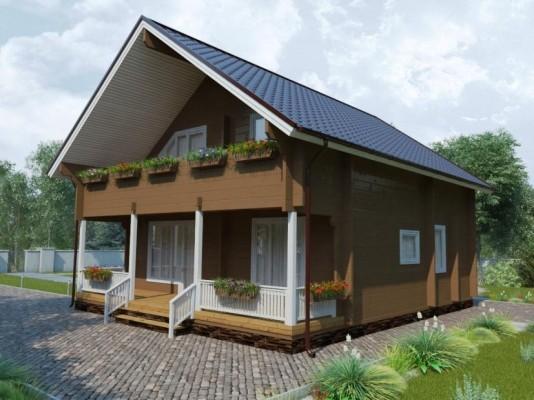 Проект дома из клееного бруса 179 м2