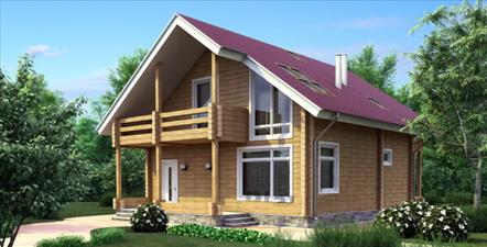 Проект дома из клееного бруса 152 м2